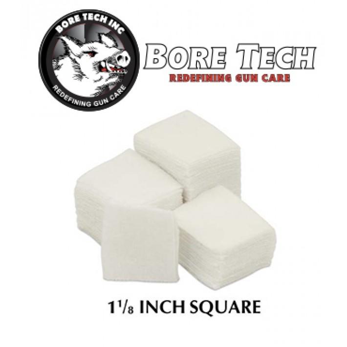 Parches de limpieza BoreTech cuadrados de 1 1/8''