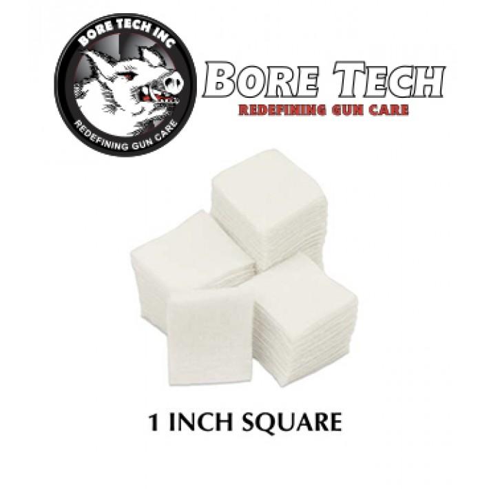 Parches de limpieza BoreTech cuadrados de 1''