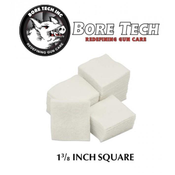 Parches de limpieza BoreTech cuadrados de 1 38''
