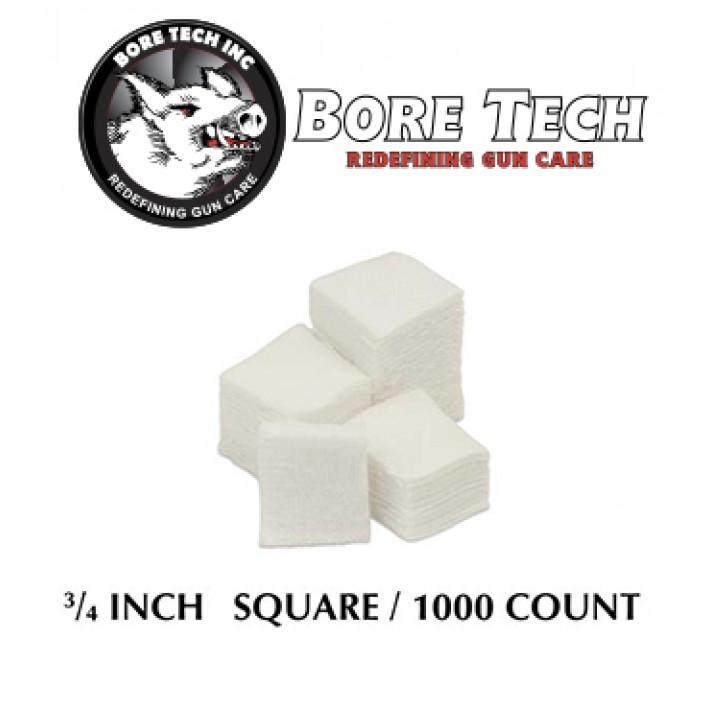 Parches de limpieza BoreTech cuadrados de 3/4'' - 1000 unidades