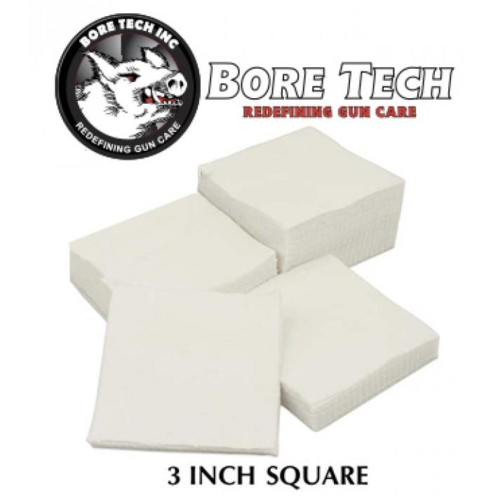 Parches de limpieza BoreTech cuadrados de 3''