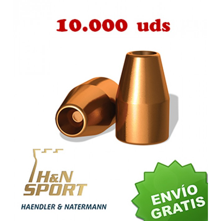Puntas H&N HS HP 9mm (.356) - 125 grains 10.000 unidades