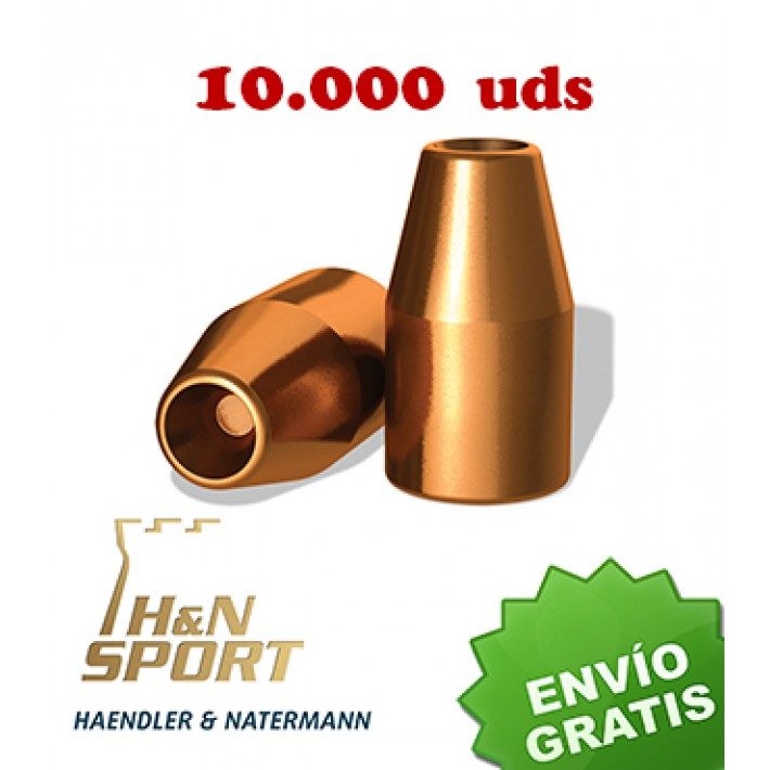 Puntas H&N HS HP 9mm (.356) - 145 grains 10.000 unidades