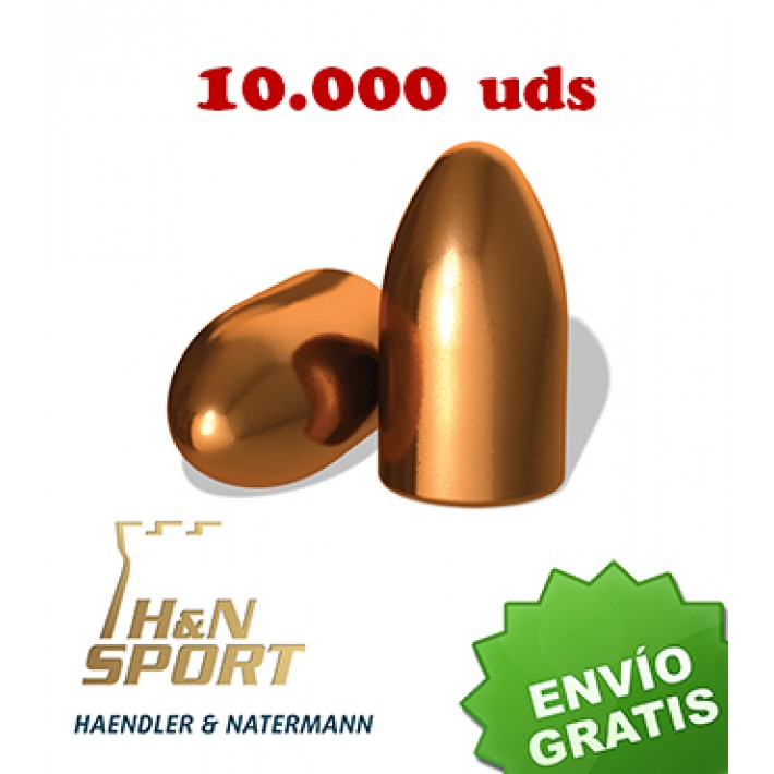 Puntas H&N HS RN 9mm (.356) - 145 grains 10.000 unidades
