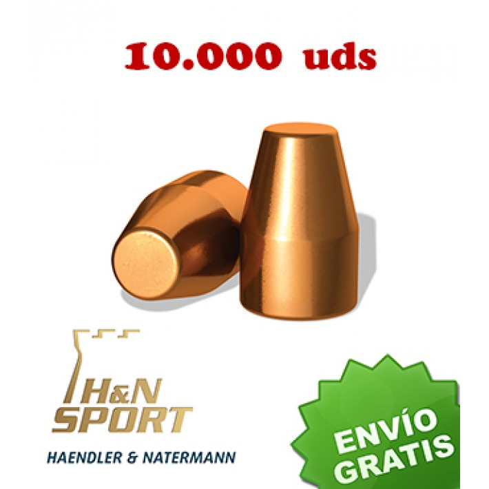 Puntas H&N HS TC 9mm (.356) - 125 grains 10.000 unidades