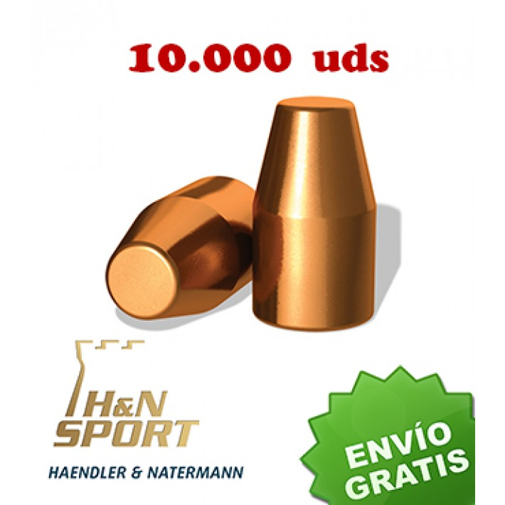 Puntas H&N HS TC 9mm (.356) - 145 grains 10.000 unidades