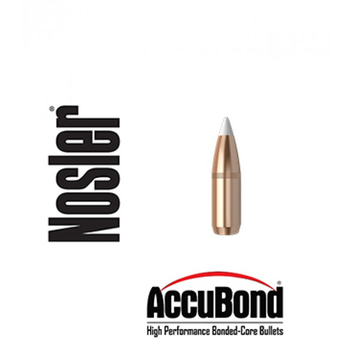 Puntas Nosler Accubond calibre .277 (6.8mm) - 110 grains con canal de crimpado