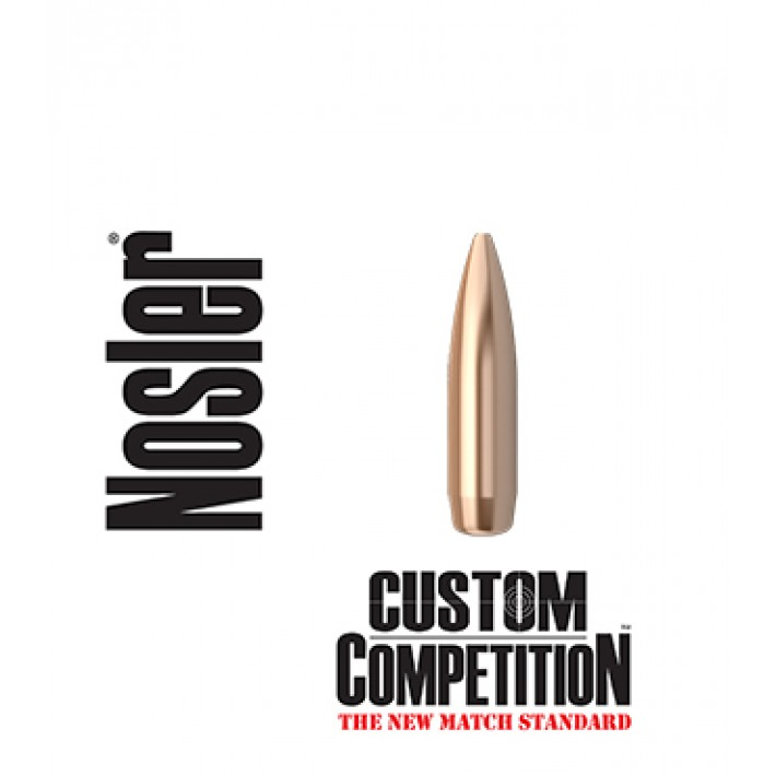 Puntas Nosler Custom Competition HPBT calibre .308 - 168 grains 1.000 unidades