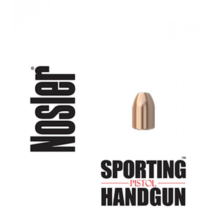 Puntas Nosler Sporting Handgun Pistol JHP calibre 9mm (.355) - 124 grains - 43123