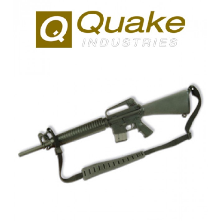 Correa portafusil Quake Jungle negra