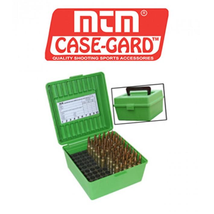 Caja para munición MTM R100 Deluxe para 100 cartuchos