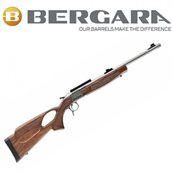 Rifle monotiro Bergara BA13 Take Down con culata Thumbhole simil madera