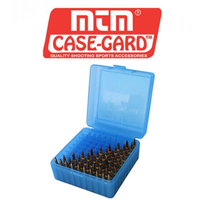 Caja para munición MTM R100 Flip Top para 100 cartuchos