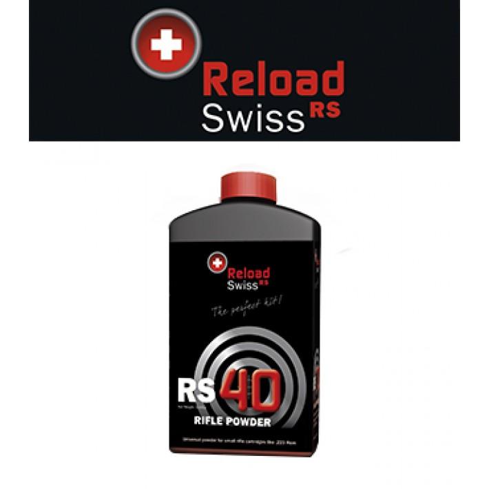 Pólvora Reload Swiss RS40 - 1 kg