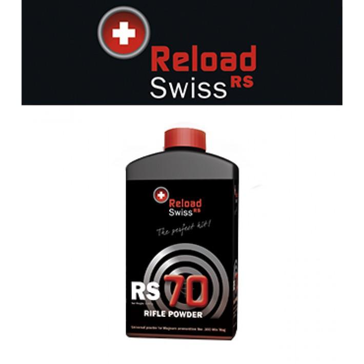 Pólvora Reload Swiss RS70 - 1 kg