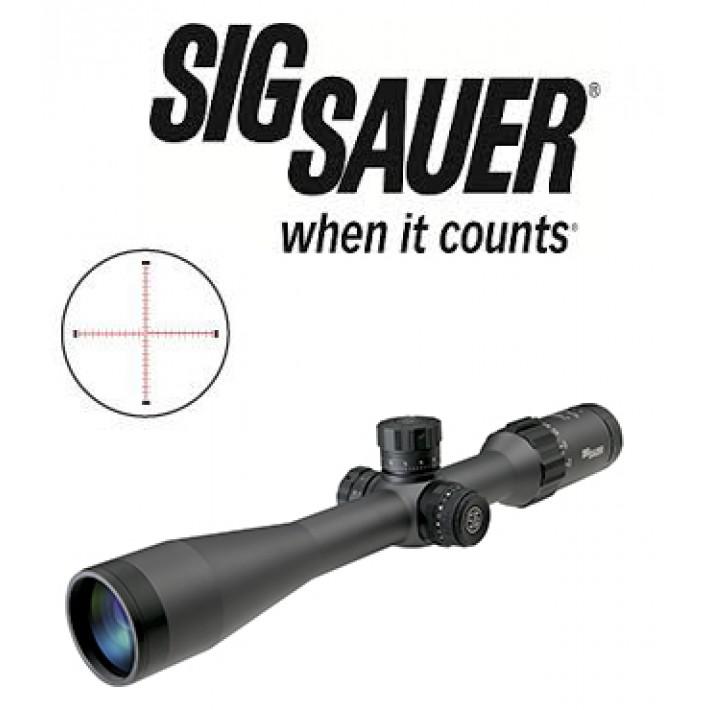Visor Sig Sauer Electro Optics Tango 6 3-18x44 de 30mm con retícula iluminada MRAD Milling y primer plano focal