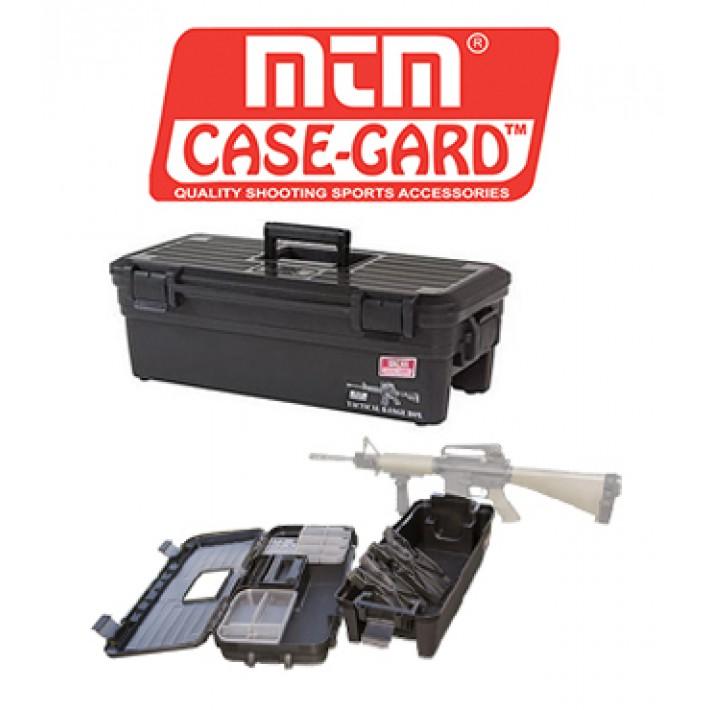 Caja MTM Tactical Range Box con banco de limpieza