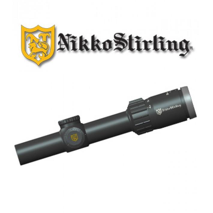 Visor Nikko Stirling Boar Eater 1-4x24 de 30mm con retícula iluminada 4A