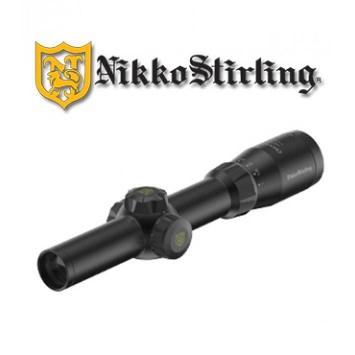 Visor Nikko Stirling Metor 1-4x24 de 30mm con retícula iluminada 4A