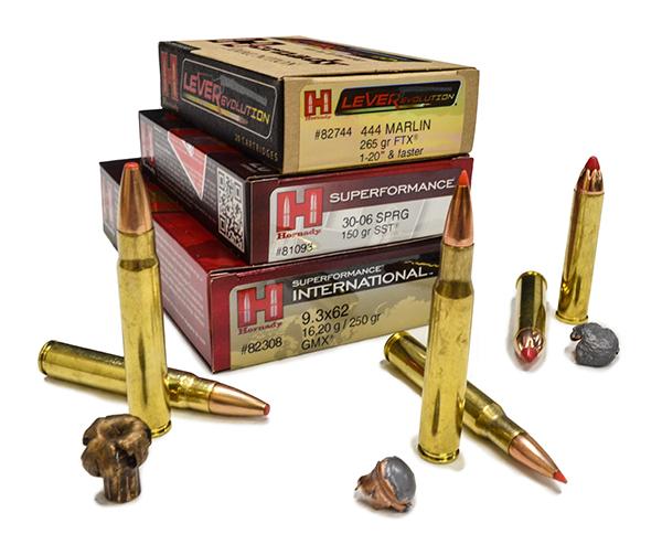 Diversos calibres y modelos de munición Hornady