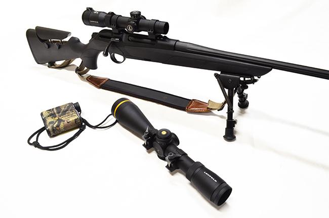 Visores de caza Leupold en rifle Merkel