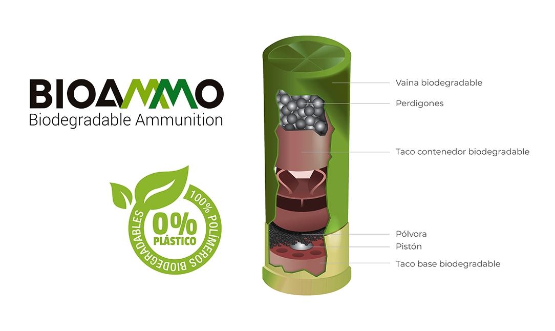 Cartucho BioAmmo 100% Biodegradable 100% libre de plásticos LejarazuSport.com