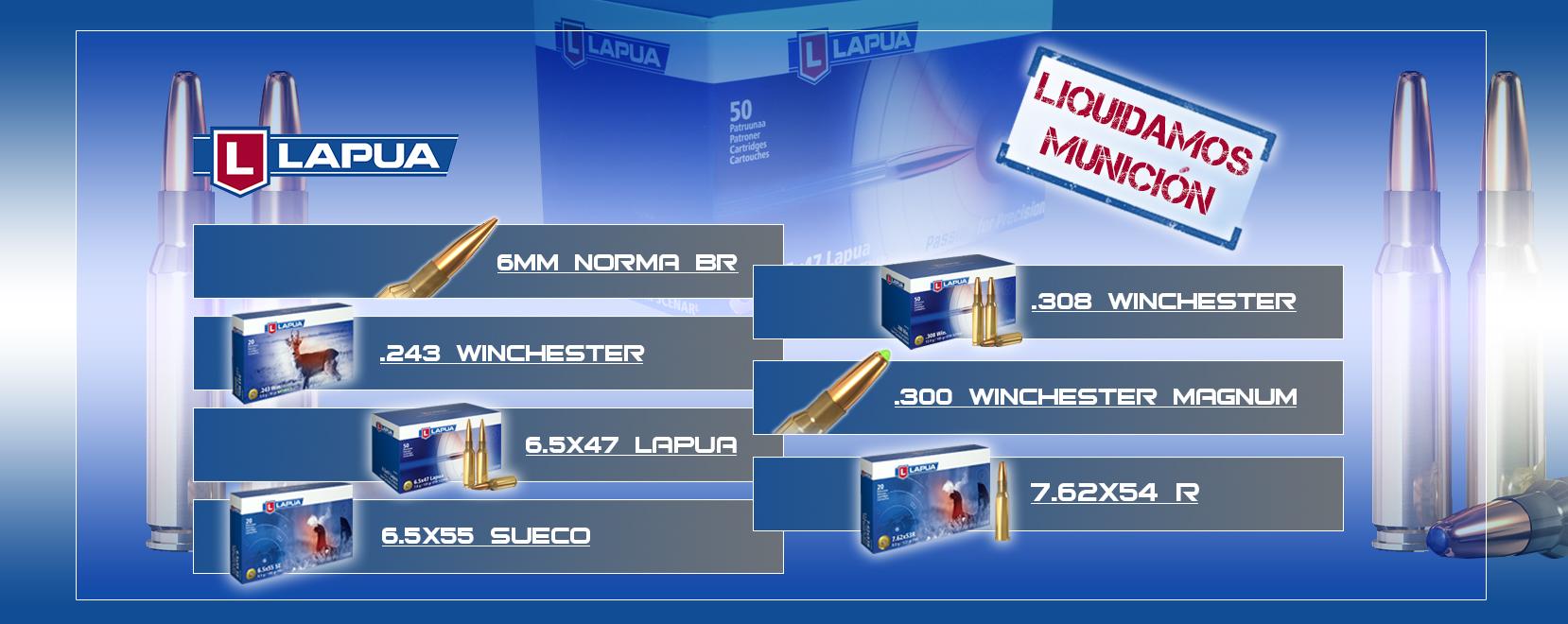 Liquidación de munición Lapua en LejarazuSport.com